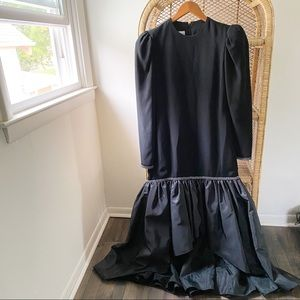 Vintage The Gilbert's for Tally Black Formal Dress